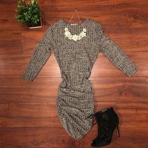 Charlotte Russe XS heather grey bodycon midi dress